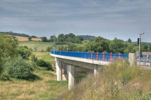 Griesbachtalbrücke über die Schneckenmühle an der südlichen Zufahrt zum Lohbergtunnel