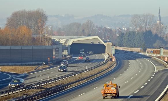 Autobahn A 3 – Ausfahrt bei Hösbach Fahrtrichtung Würzburg