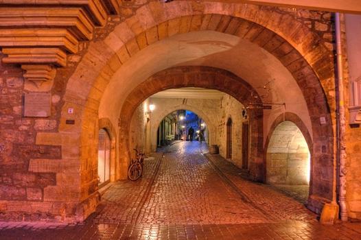 Krämerbrücke bei Nacht