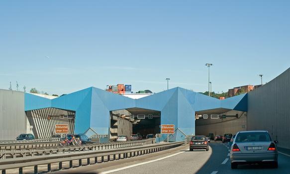 Südportal Elbtunnel - 1.-3. Röhre