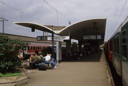 Koblenz Hauptbahnhof - Überdachung der Bahnsteige