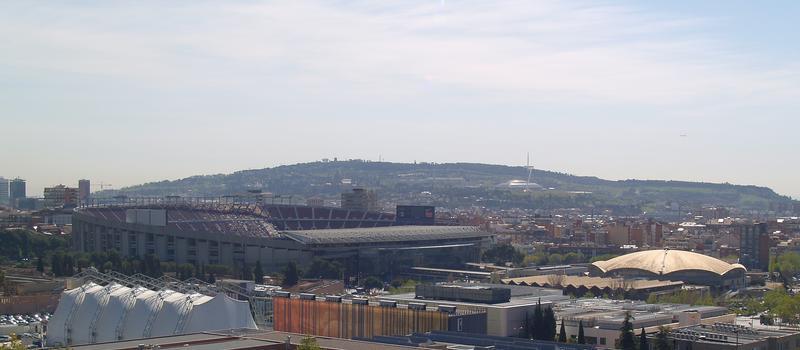 Palau Blaugrana & Camp Nou & Olympiastadion Barcelona & Sant Jordi Sportpalast & Fernmeldeturm Montjuic
