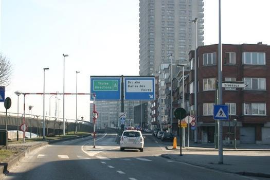 Autobahn E25 (A 25) bei Bressoux in Richtung Visé