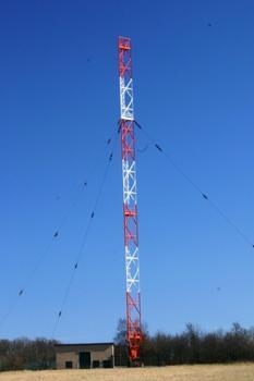Night Aerial Transmission Mast at Marnach