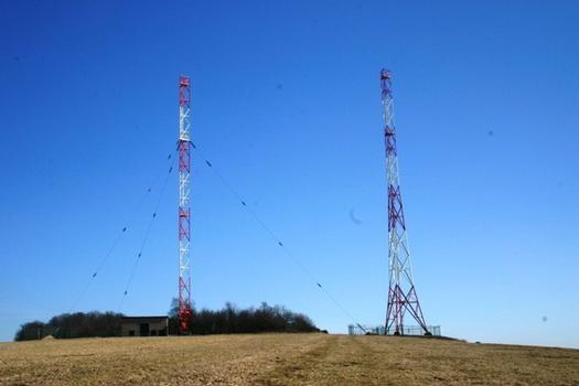 Night Aerial Transmission Mast