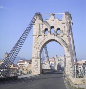 Le pont suspendu d'Amposta