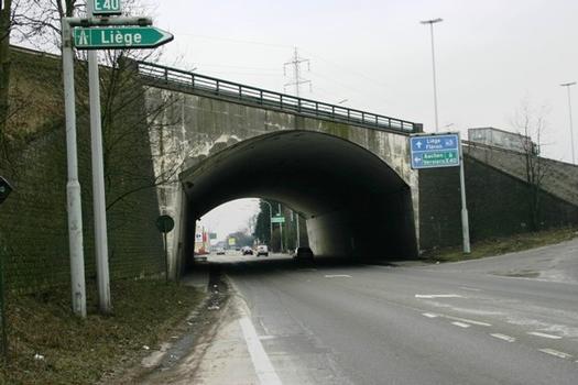 La E40 franchissant la Nationale 3 entre Soumagne et Herve