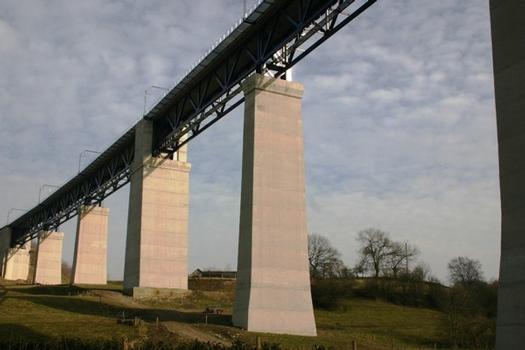 Viaduc de Moresnet face Nord direction Ouest