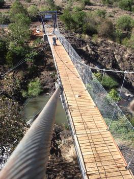 Footbridge for at HIV orphanage at Ngejek, Kenia