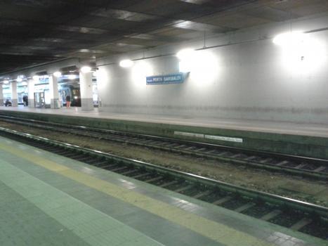 Milano Porta Garibaldi Station, on rail connection to Centrale Station