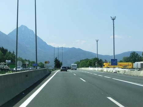 A 1 Motorway (Austria) at german border