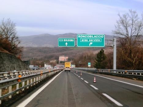 A 1 Motorway (Italy) at Roncobilaccio