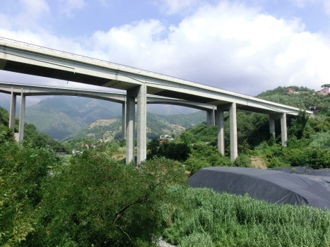 Lerone Viaducts: The eastbound viaduct with the westbound in the background