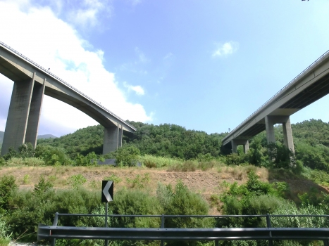 Lerone Viaducts: The westbound viaduct is shown on the left and the eastbound on the right