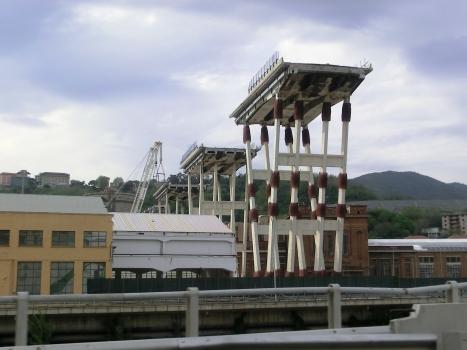 Polcevera Viaduct dismantling