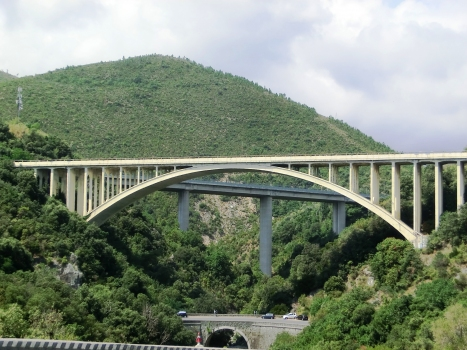 Portigliolo Viaduct:with the Arenon II Viaduct visible in the back