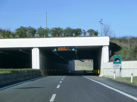 Orciano Tunnel southern portals