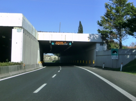 Santa Luce Tunnel southern portals