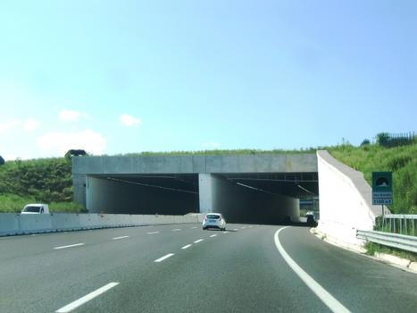 New three lanes Case Bruciate Tunnel, southern portals