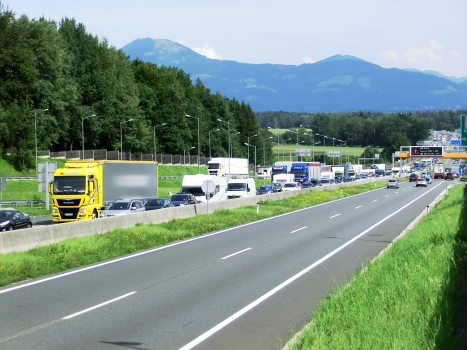 A 1 Motorway (Austria) at Deustchland border