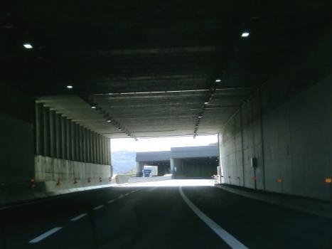 Bollone II Tunnel northern portals from Bollone I Tunnel