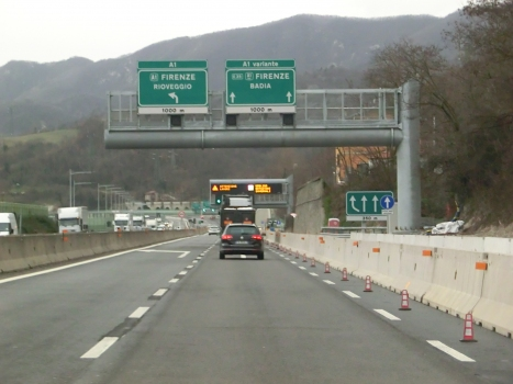 A 1var Motorway (Italy): starting section at La Quercia