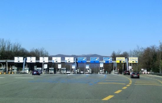 A 26 Motorway (Italy) at Lago Maggiore toll station