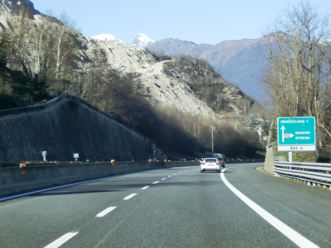 A 26 Motorway (Italy) at Baveno exit
