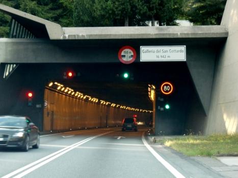 Gotthard Road Tunnel southern portal