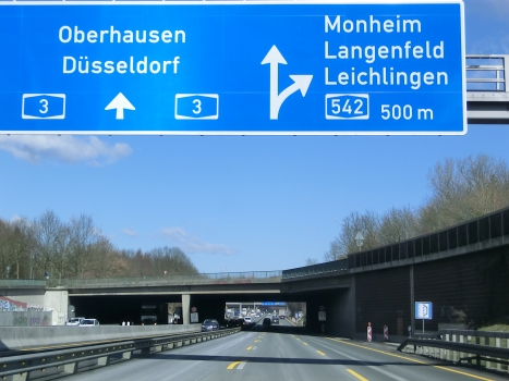 A 3 Motorway (Germany) at A542 Langenfeld Connection