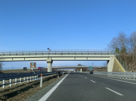 A 6 Motorway (Italy), provincial boundary Cuneo-Torino