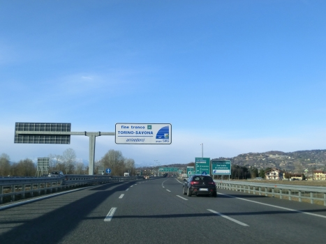 End of A 6 Motorway (Italy) in Torino
