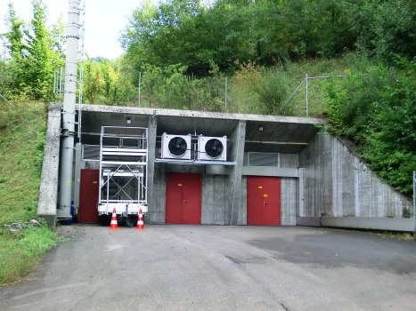 Sachseln Tunnel ventilation central