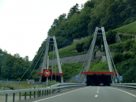Arzillier Tunnel southern portal and Saint Maurice cable stayed bridge