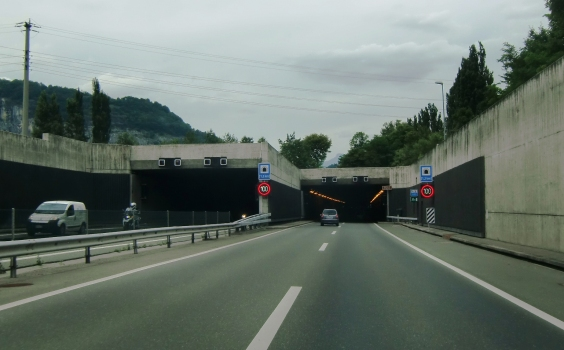 Saint Maurice Tunnel southern portals