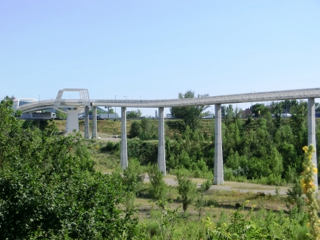 Marconi Express, bridge across A14 Motorway