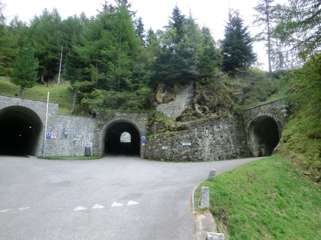 Luzzone Tunnels : (from left to right) Luzzone II, III and IV Tunnels western portals