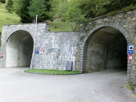 Luzzone Tunnels : (from left to right) Luzzone II, and III Tunnels western portals