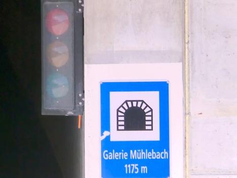 Mühlebach Tunnel eastern portal plate