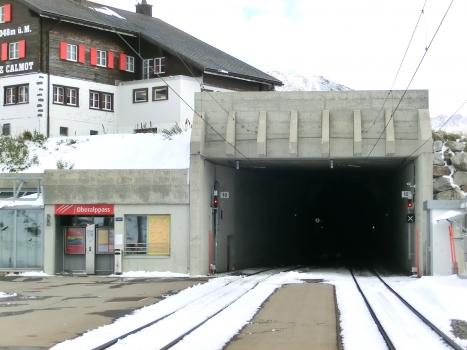 Oberalppass Station and Oberalppass Tunnel western portal