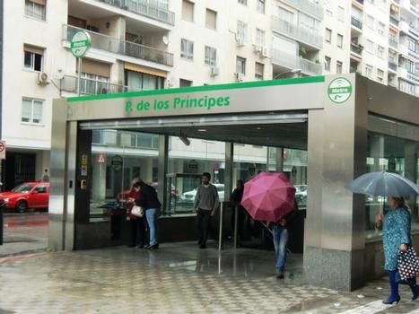 Metrobahnhof Parque de los Principes