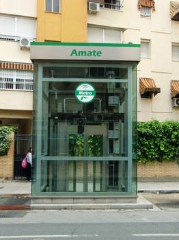 Amate metro station, access