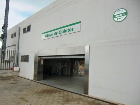 Metrobahnhof Olivar de Quinto