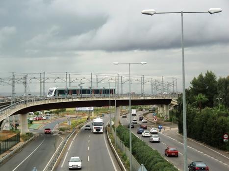Sevilla metro line 1 across A-376, close to Condequinto station