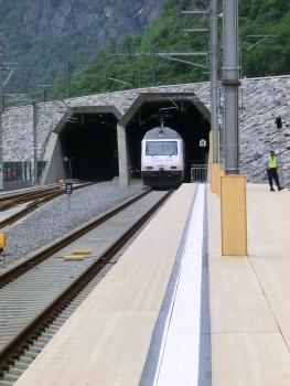 Gotthard Base Tunnel, Pollegio portals on inauguration day