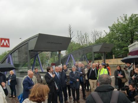 San Siro Ippodromo Metro Station on inauguration day