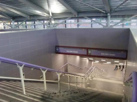 San Siro Stadio Metro Station access