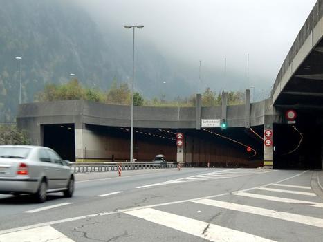 Gotthard road tunnel northern portal