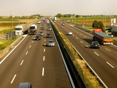 A4 Motorway from service area Brembo