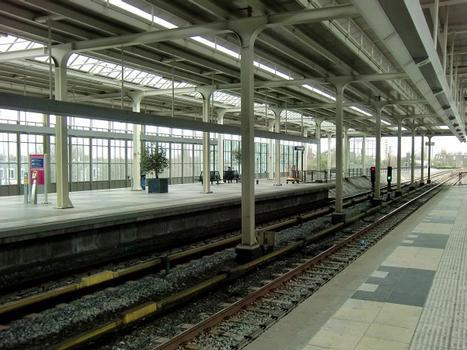 Amsterdam Amstel Station, railways and metro platforms